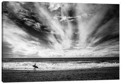 The Loneliness Of A Surfer Canvas Art Print