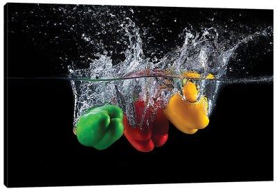 Paprika Splash Canvas Art Print