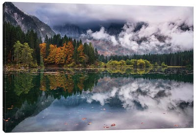 Autumn Mood At Fusine Lake Canvas Art Print
