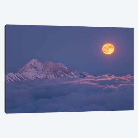 Super Moon Rises Canvas Print #OXM4981} by Ales Krivec Art Print
