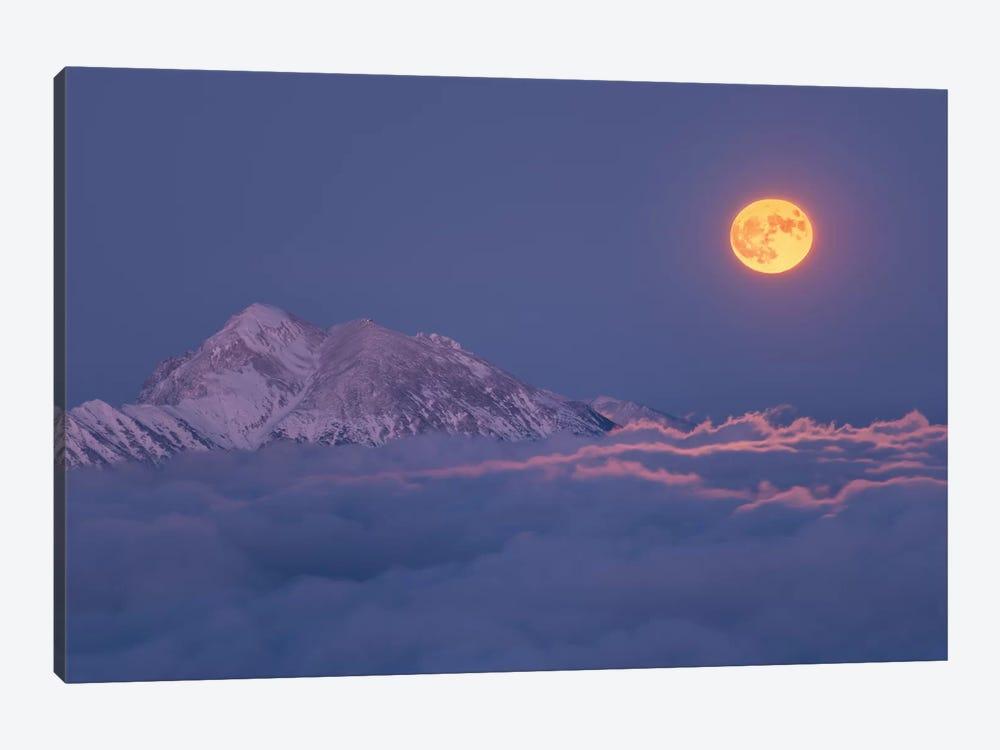 Super Moon Rises by Ales Krivec 1-piece Canvas Wall Art