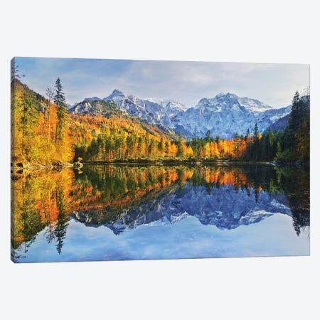 Autumn Reflections Canvas Print #OXM5039} by Burger Jochen Canvas Artwork