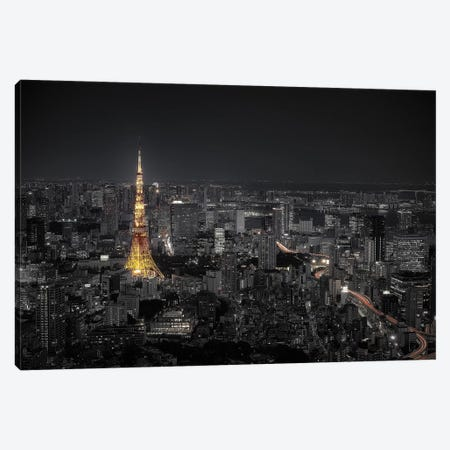Tokyo At Night Canvas Print #OXM5043} by Carlos Ramirez Art Print