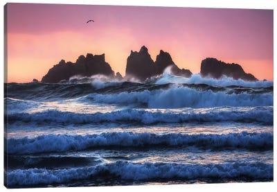 Bandon Beach Layers Canvas Art Print