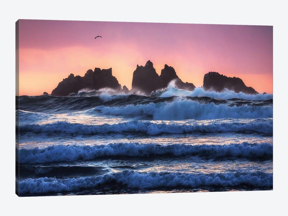 Bandon Beach Layers by Daniel Gastager 1-piece Art Print