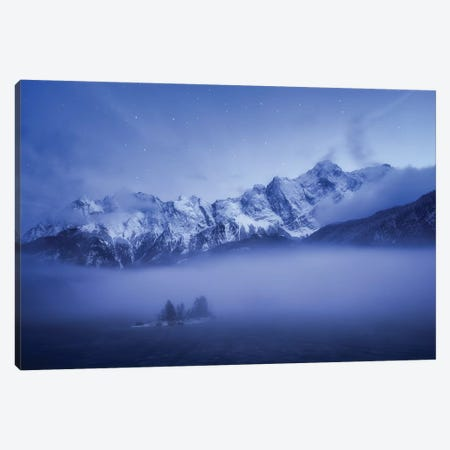 Misty Winter Evening Canvas Print #OXM5072} by Daniel Gastager Canvas Wall Art