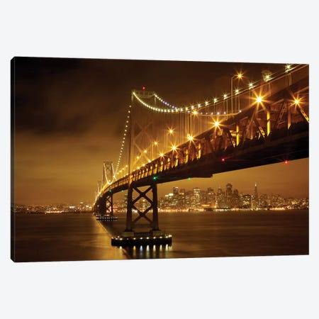 Bay Bridge Canvas Print #OXM5117} by Evgeny Vasenev Canvas Artwork
