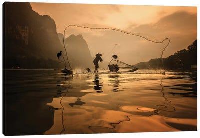 Spread The Fish Nets Canvas Art Print
