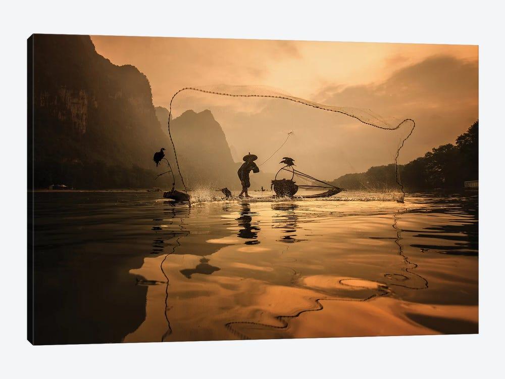 Spread The Fish Nets by Gunarto Song 1-piece Canvas Art Print