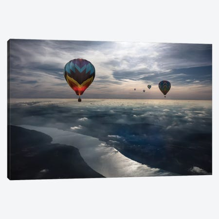 To Kiss The Sky 3-Piece Canvas #OXM5149} by Heather Bonadio Canvas Wall Art
