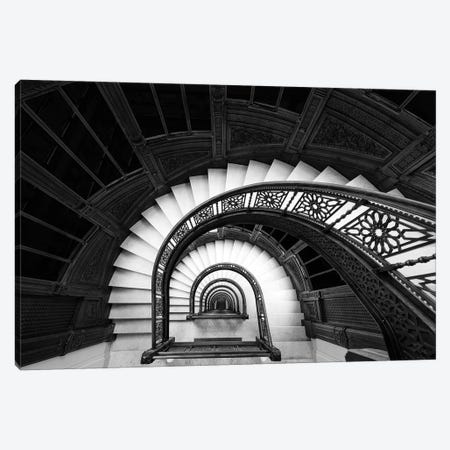 Staircase Canvas Print #OXM5157} by Henry Zhao Canvas Wall Art