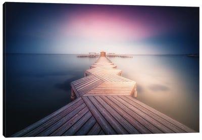 The Lighted Pier. Canvas Art Print