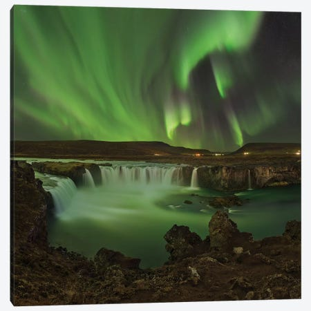 Waterfall Of Gods Canvas Print #OXM5189} by Jan Smíd Master Canvas Wall Art