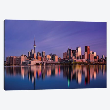 Toronto Sunrise Canvas Print #OXM5191} by Jason Crockett Canvas Print