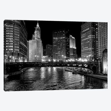 Chicago River Canvas Print #OXM5199} by Jeff Lewis Canvas Print