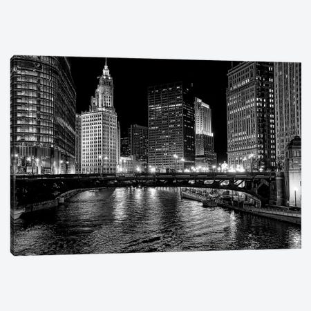 Chicago River Canvas Print #OXM5199} by Jeff Lewis Canvas Print