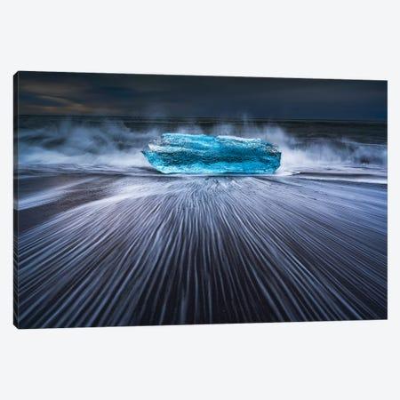 Blue Diamond 3-Piece Canvas #OXM5205} by Jingshu Zhu Canvas Art