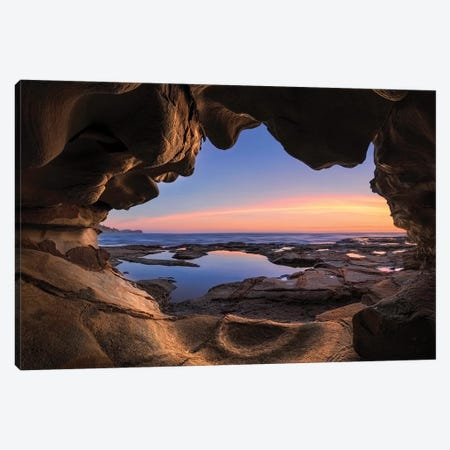 Sea Cave Canvas Print #OXM5209} by Jingshu Zhu Art Print