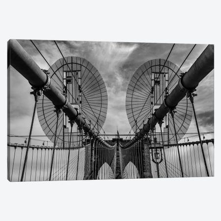 Brooklyn Bridge Canvas Print #OXM5224} by Joshua Raif Canvas Artwork