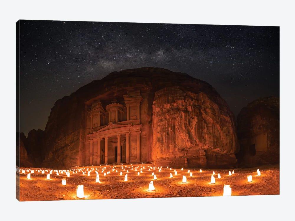 Petra By Night by Khalid Jamal 1-piece Canvas Art
