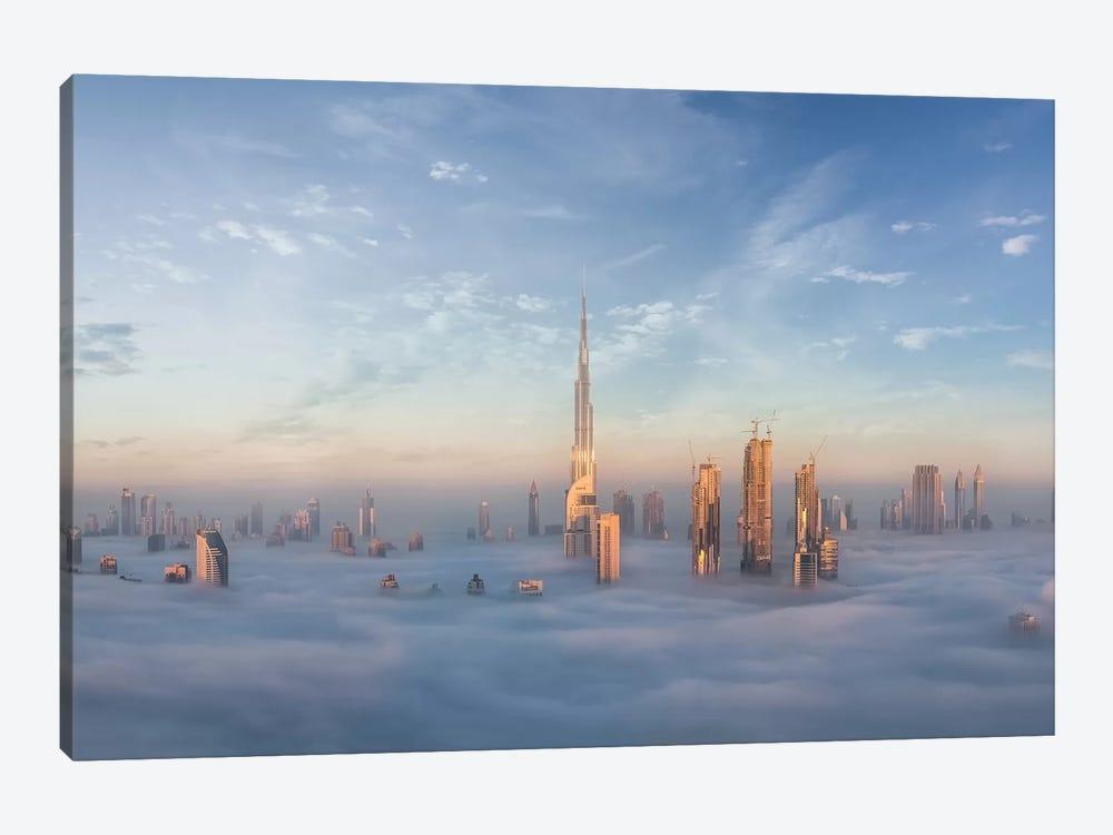 Sinking In Fog by Khalid Jamal 1-piece Canvas Print