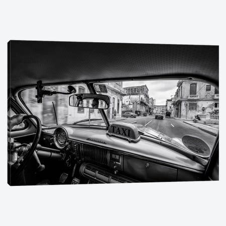 Riding The Cuban Streets Canvas Print #OXM5259} by Marco Tagliarino Canvas Wall Art
