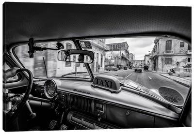 Riding The Cuban Streets Canvas Art Print