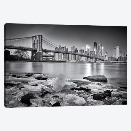 New York - Brooklyn Bridge 3-Piece Canvas #OXM5269} by Martin Froyda Canvas Print