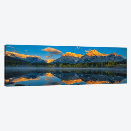A Perfect Morning In Canadian Rockies 3-Piece Canvas #OXM5282} by Michael Zheng Canvas Print