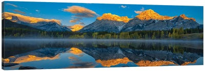 A Perfect Morning In Canadian Rockies Canvas Art Print