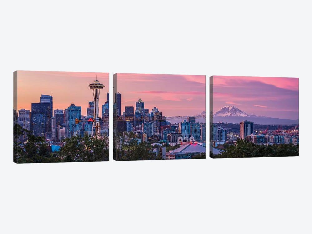 Good Morning, Seattle! by Michael Zheng 3-piece Art Print