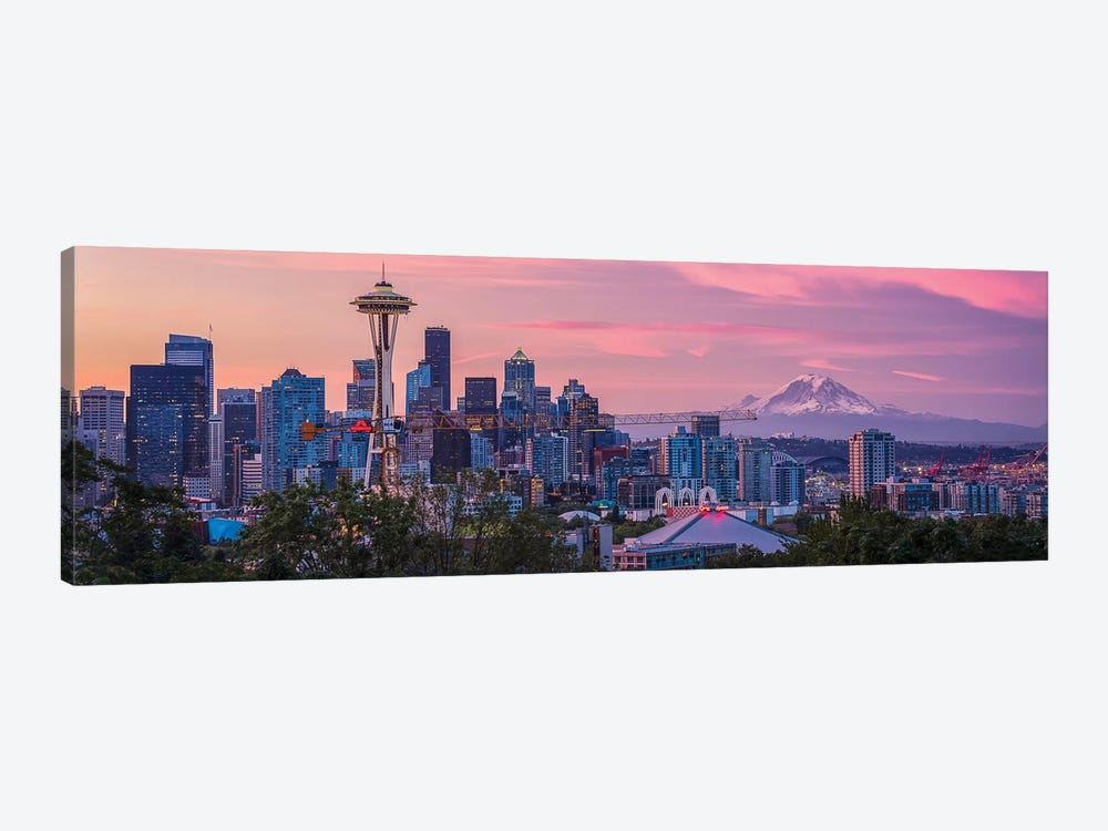 Good Morning, Seattle! by Michael Zheng 1-piece Canvas Print