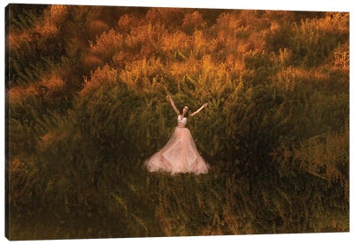 Natalia In The Field Canvas Art Print