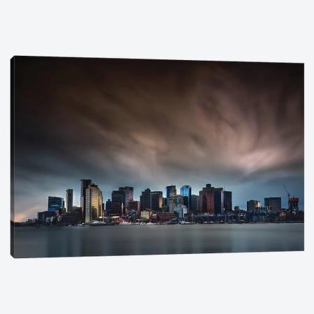 Boston Skyline Canvas Print #OXM5292} by Miki Joven Canvas Wall Art