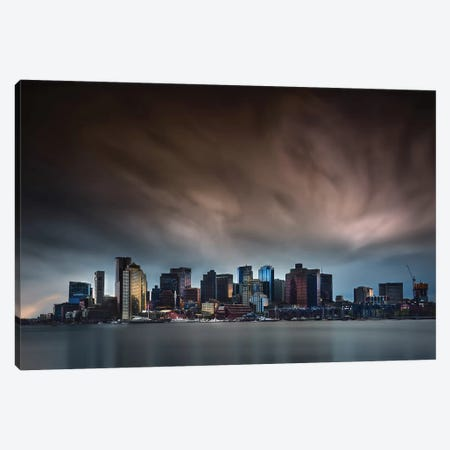 Boston Skyline Canvas Print #OXM5292} by Miki Joven Canvas Wall Art