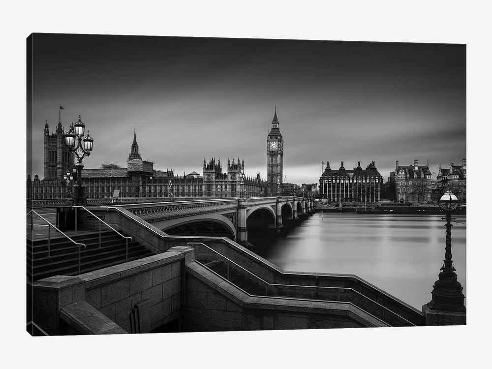 Westminster Bridge by Oscar Lopez 1-piece Canvas Art