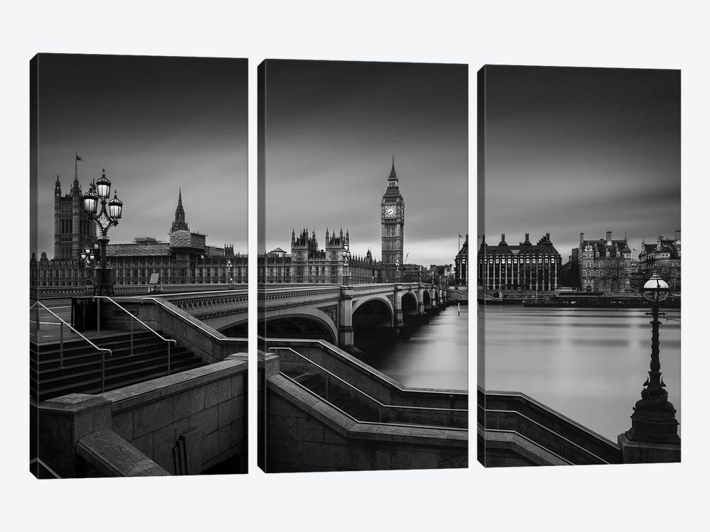 Westminster Bridge by Oscar Lopez 3-piece Canvas Artwork