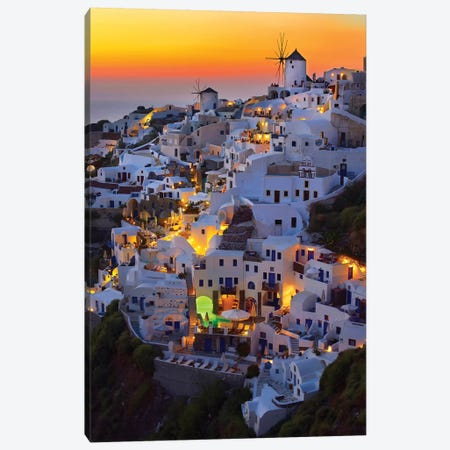 Santorini Canvas Print #OXM5315} by Paduroiu Claudiu Canvas Wall Art