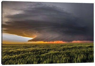 Storm At Sunset Canvas Art Print
