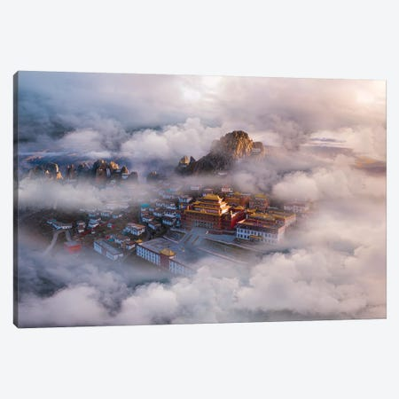 The Hall Of Ling Xiao Canvas Print #OXM5405} by Simoon Canvas Artwork
