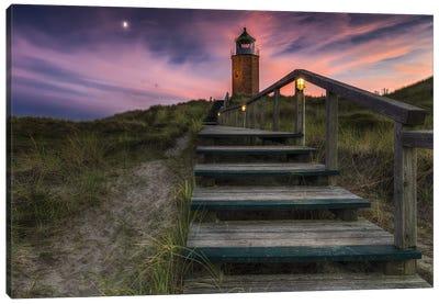 Way To Lighthouse Canvas Art Print