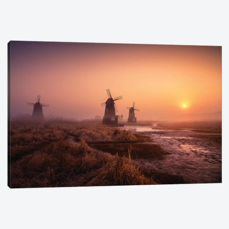 Foggy Morning Canvas Print #OXM5429} by Tiger Seo Canvas Art Print