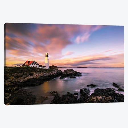 Coastline Sunset Canvas Print #OXM5462} by Wei Dai Art Print