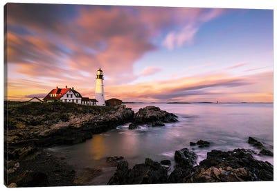Coastline Sunset Canvas Art Print