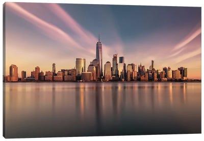 Golden Manhattan Canvas Art Print