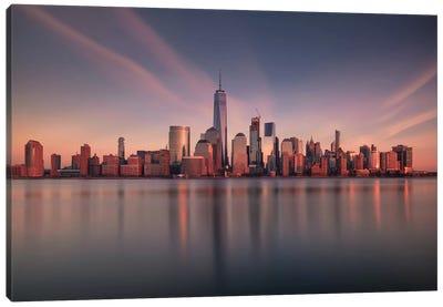 Lower Manhattan At Dusk Canvas Art Print