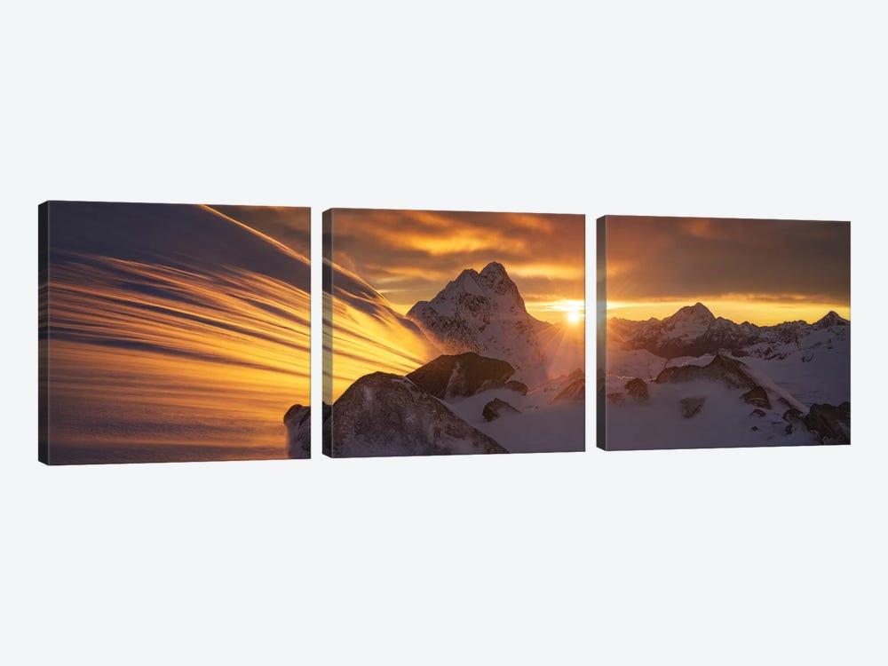 Glacier Light by Yan Zhang 3-piece Canvas Art Print