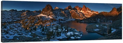 Minaret Lake: First Light Canvas Art Print
