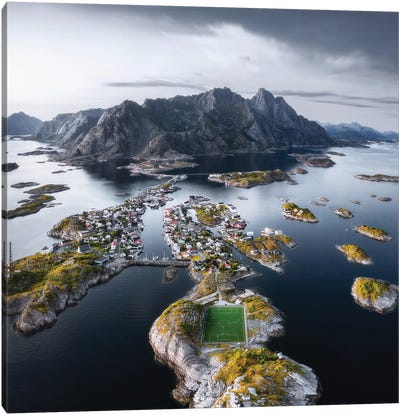 Football Stadium At The End Of The World Canvas Art Print