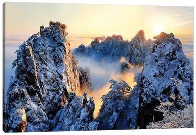 Sunrise At Mt. Huang Shan Canvas Art Print